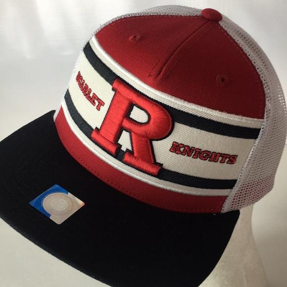 promo code dfeec 20075 RUTGERS Scarlet Knights Hat Truckers Super Stripe